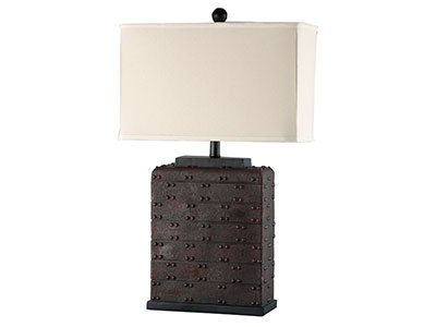 Faux Leather Table Lamp