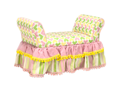 ANN BRYAN SKIRTED KID'S BENCH