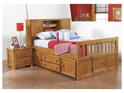 Creekside Twin Bookcase Headboard Captains Bed