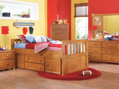 Creekside Twin Captains Bed