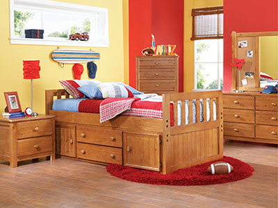 Creekside Twin Captains Bed w/Trundle