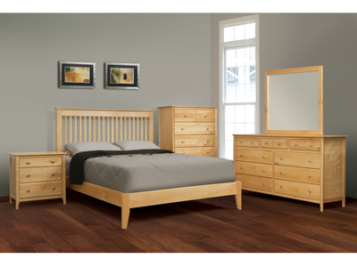 Stratford Full Slat Bed