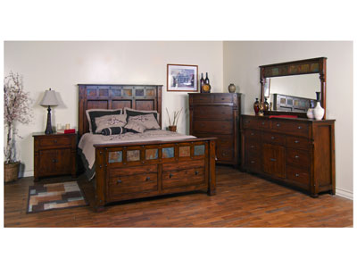 Sante Fe Queen Storage Bed