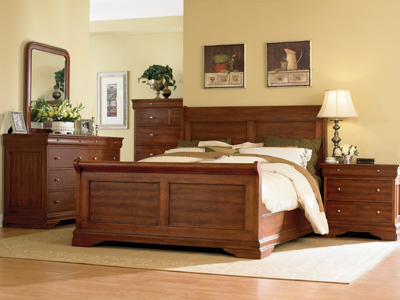 French Classic King Panel Bed