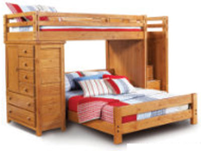 Creekside Twin/Full Storage Step Loft w/Chest