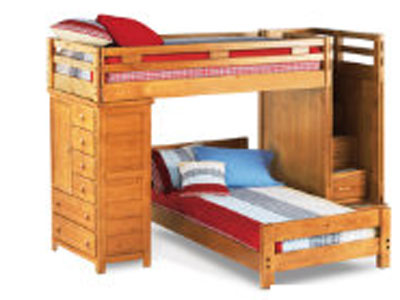 Creekside Twin/Twin Storage Step Loft w/Chest