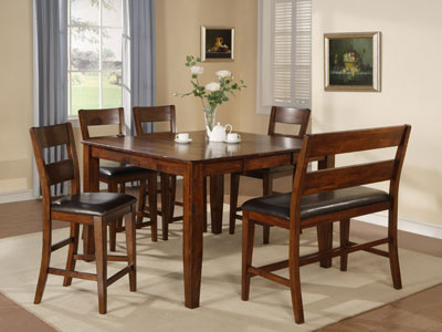 counter height dining room sets with bench 2