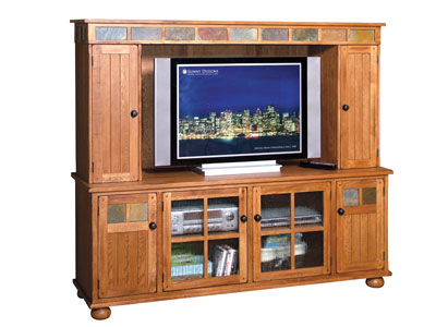 Rustic Oak Entertainment Center